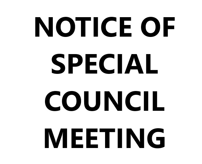 Notice of Special Council Meeting - October 17, 2019